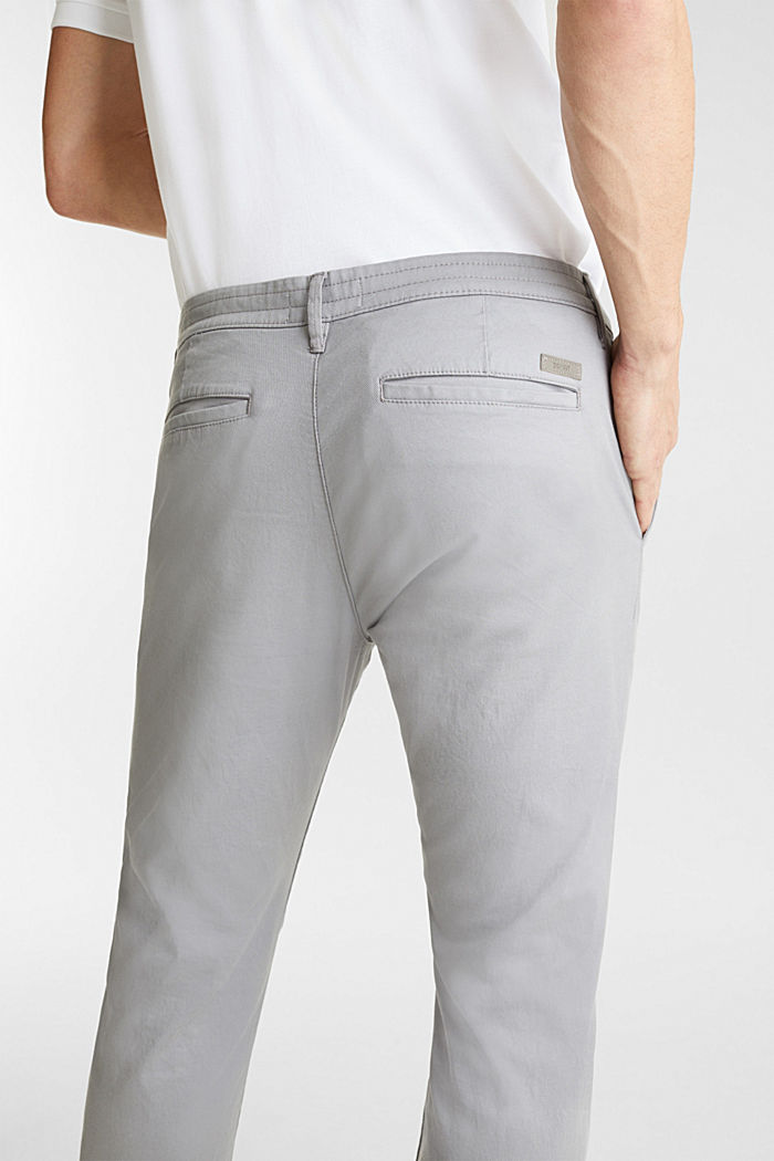 Stretch cotton twill trousers, MEDIUM GREY, detail image number 2