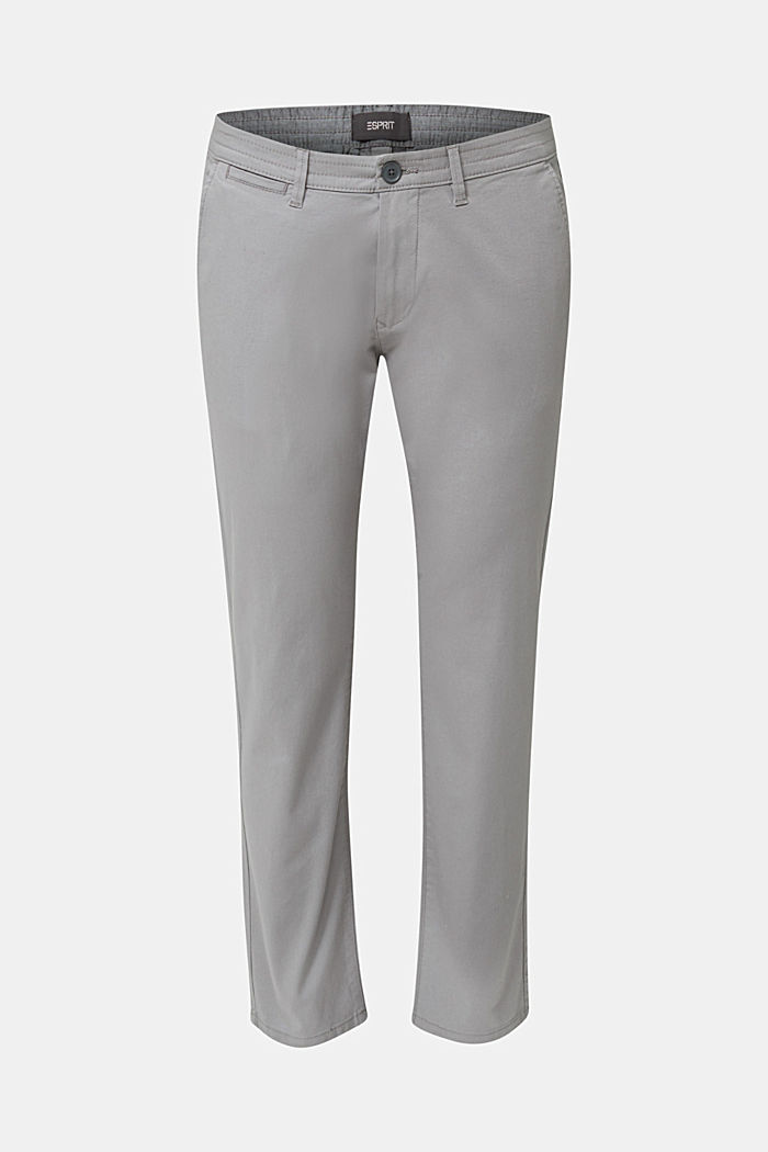 Stretch cotton twill trousers, MEDIUM GREY, detail image number 5