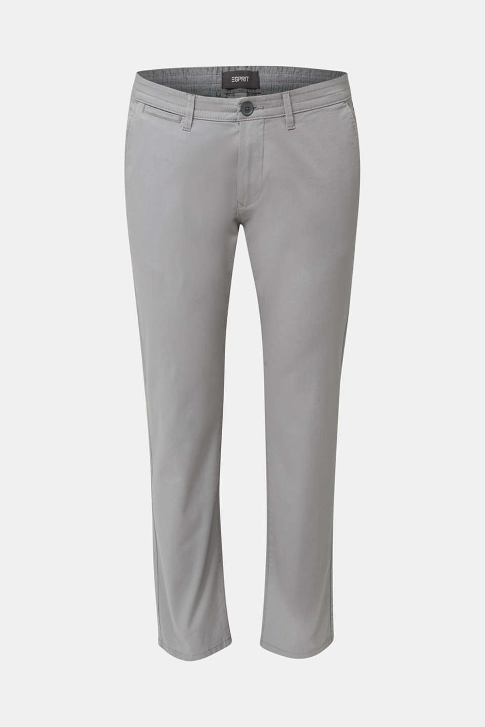 Stretch cotton twill trousers, MEDIUM GREY, detail image number 6