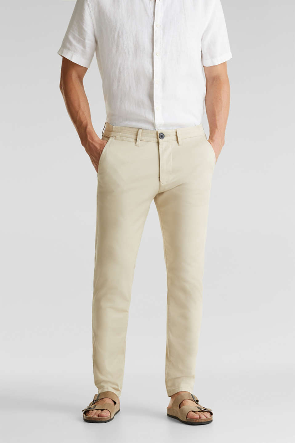 Esprit - Stretch cotton twill trousers