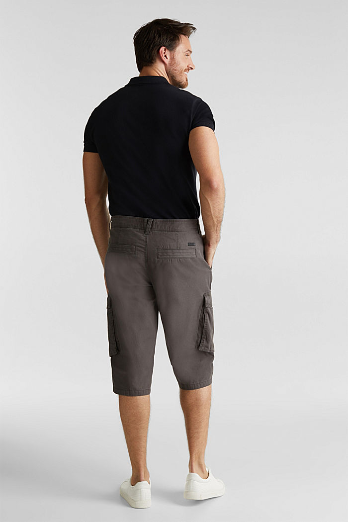 Cargo Bermudas in 100% cotton, DARK GREY, detail image number 2