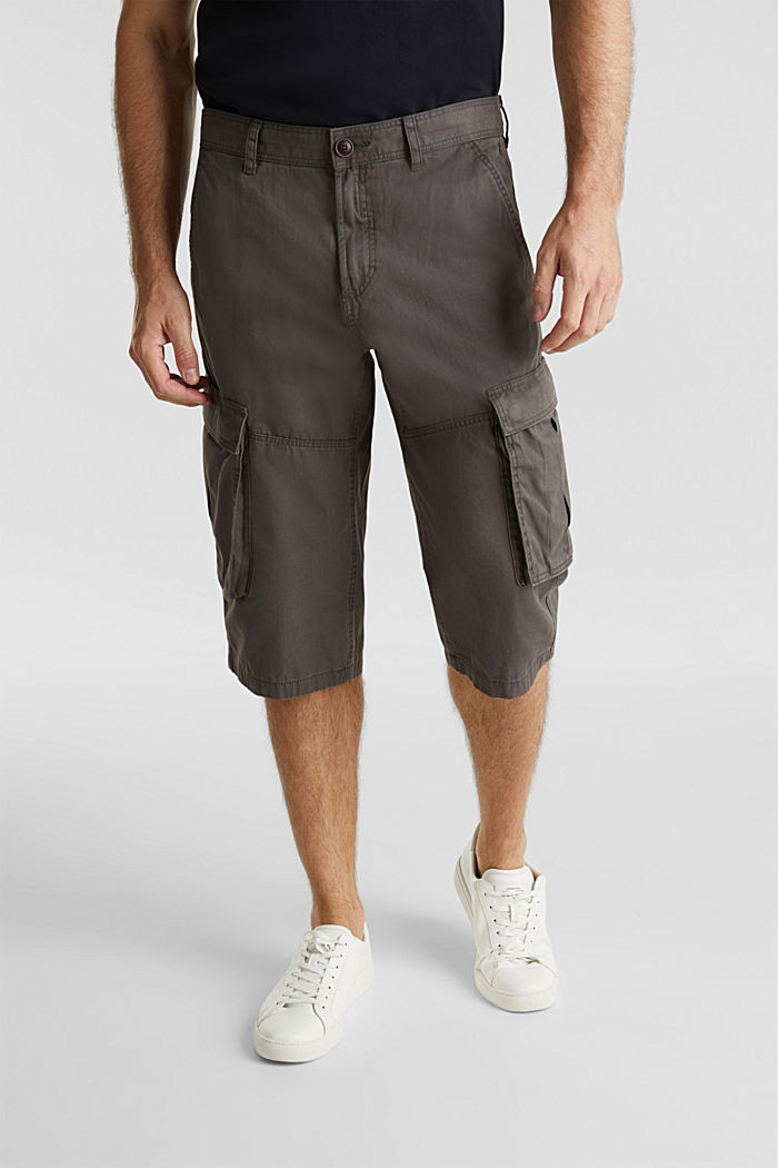 Cargo Bermudas in 100% cotton, DARK GREY, detail image number 5