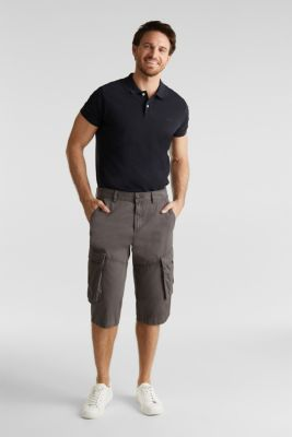 Cargo Bermudas in 100% cotton, DARK GREY, detail