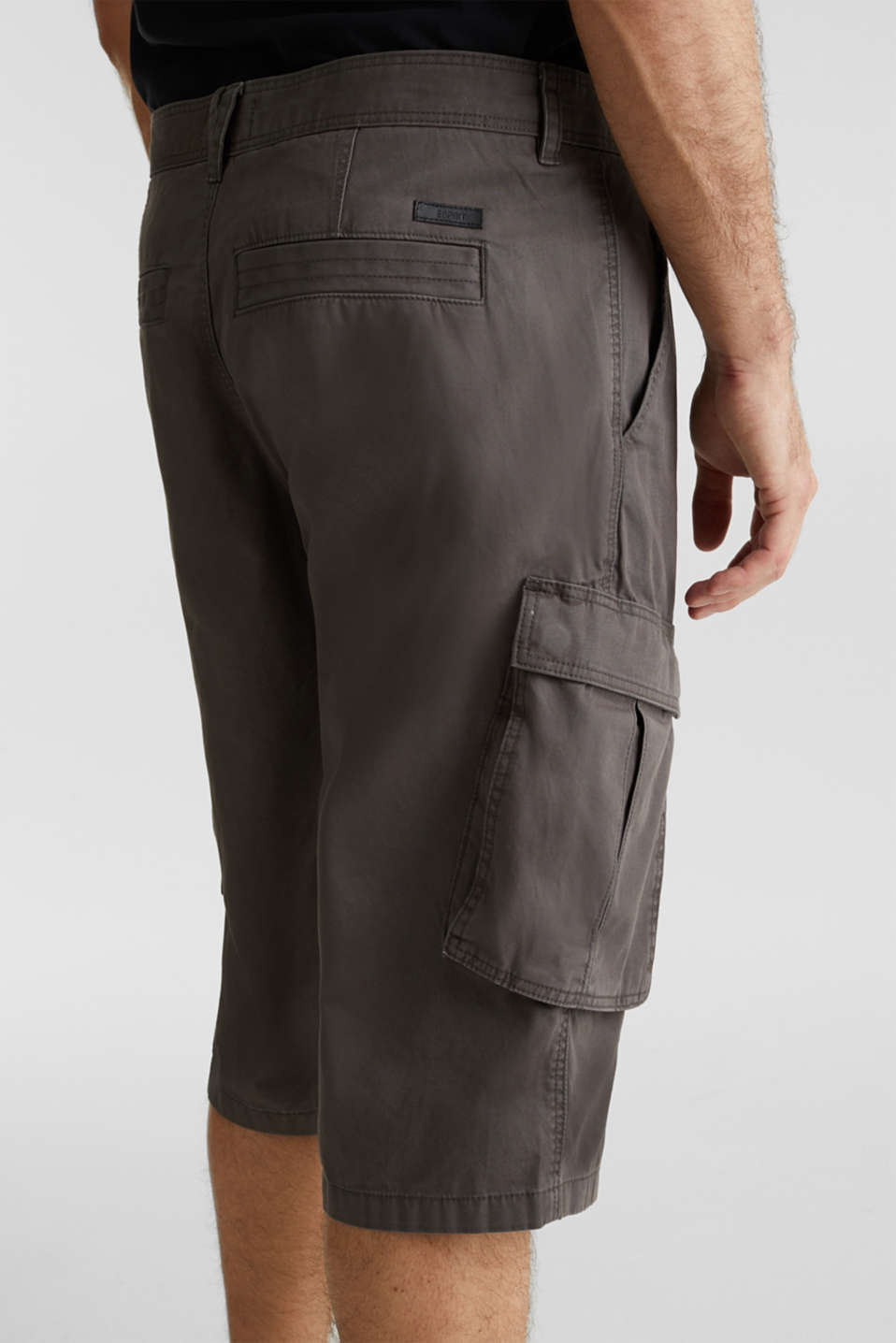 Cargo Bermudas in 100% cotton, DARK GREY, detail image number 4