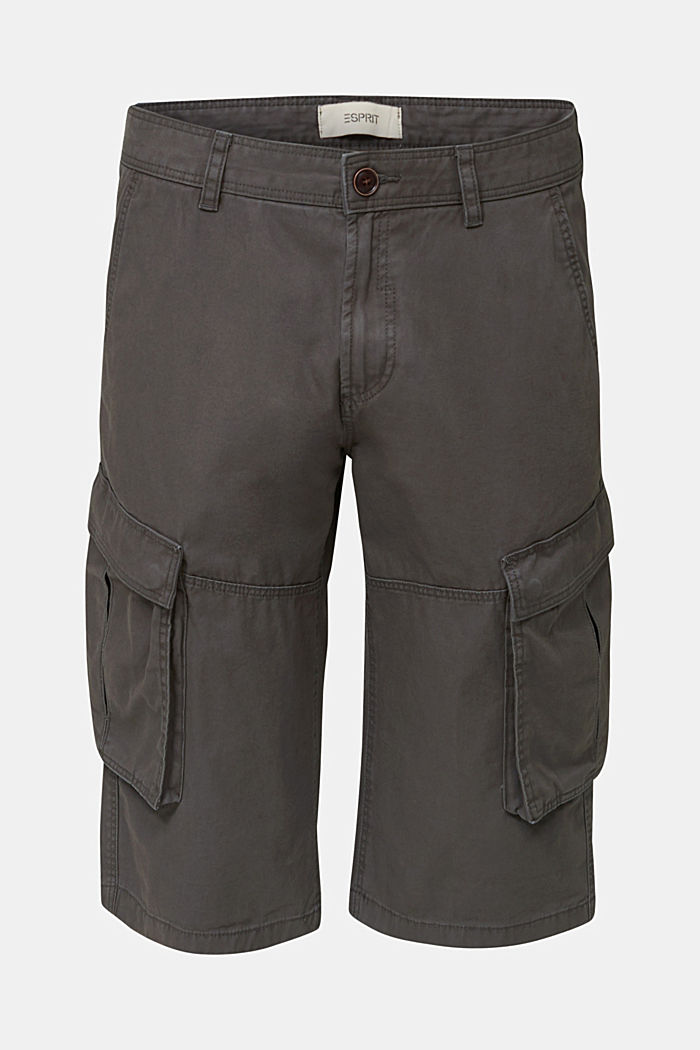 Cargo Bermudas in 100% cotton, DARK GREY, detail image number 6