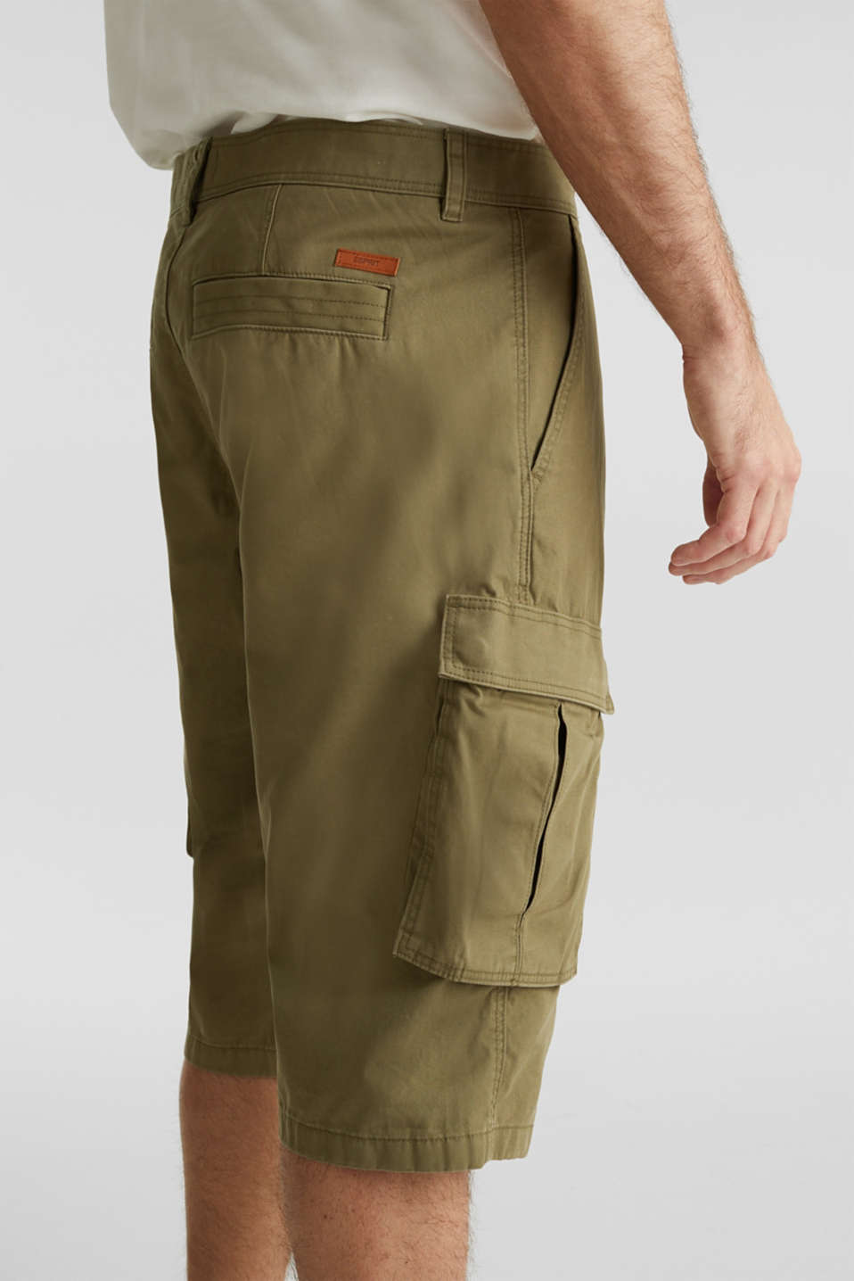 Cargo Bermudas in 100% cotton, OLIVE, detail image number 2
