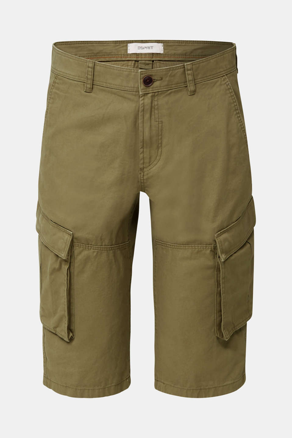 Cargo Bermudas in 100% cotton, OLIVE, detail image number 7