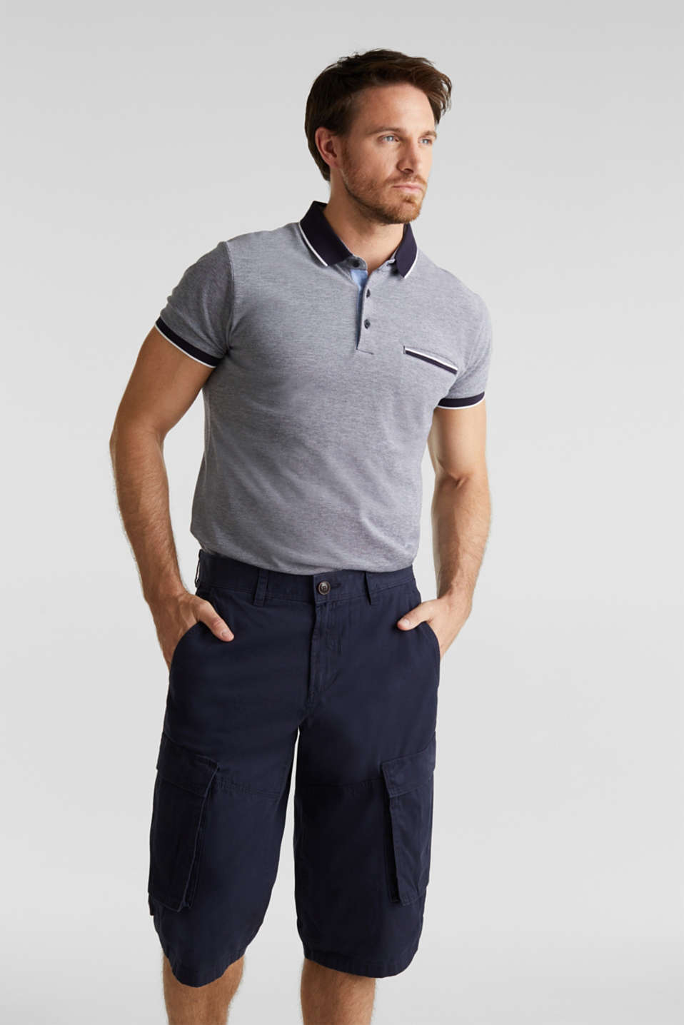 Esprit - Cargo Bermudas in 100% cotton