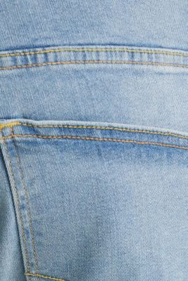 Denim Bermudas with a washed-out effect, BLUE LIGHT WASH, detail