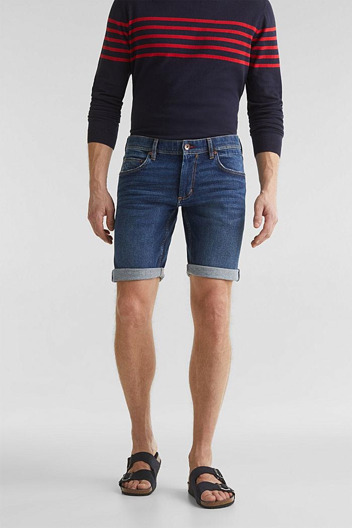 Denim-Shorts mit Organic Cotton, BLUE DARK WASHED, detail image number 0