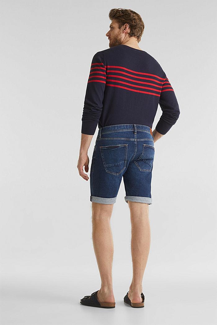 Denim-Shorts mit Organic Cotton, BLUE DARK WASHED, detail image number 3