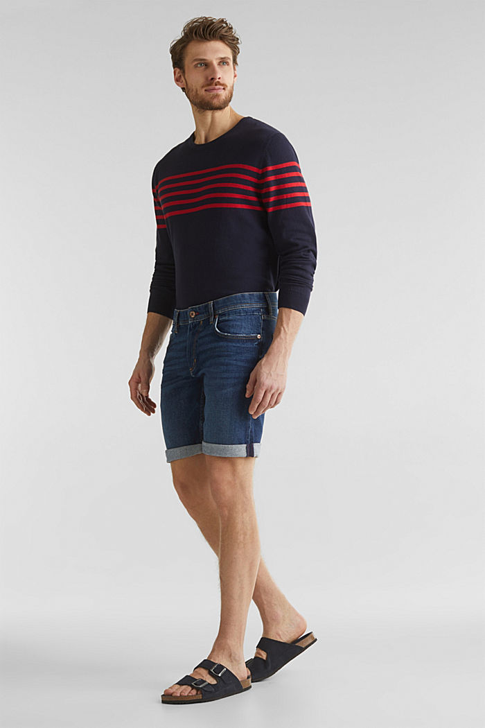 Denim-Shorts mit Organic Cotton, BLUE DARK WASHED, detail image number 1