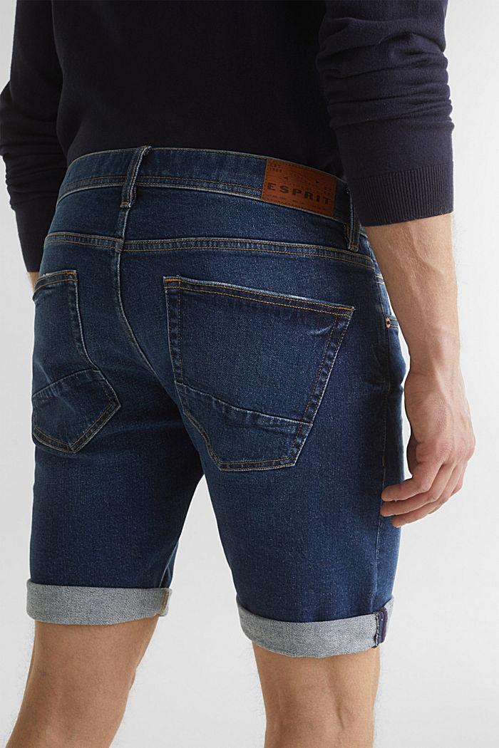 Denim-Shorts mit Organic Cotton, BLUE DARK WASHED, detail image number 6