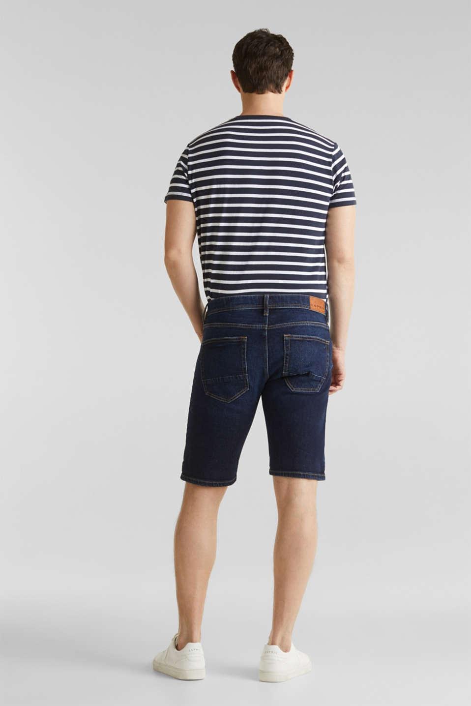 Denim shorts with organic cotton, BLUE MEDIUM WASH, detail image number 3