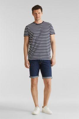 Denim shorts with organic cotton, BLUE MEDIUM WASH, detail