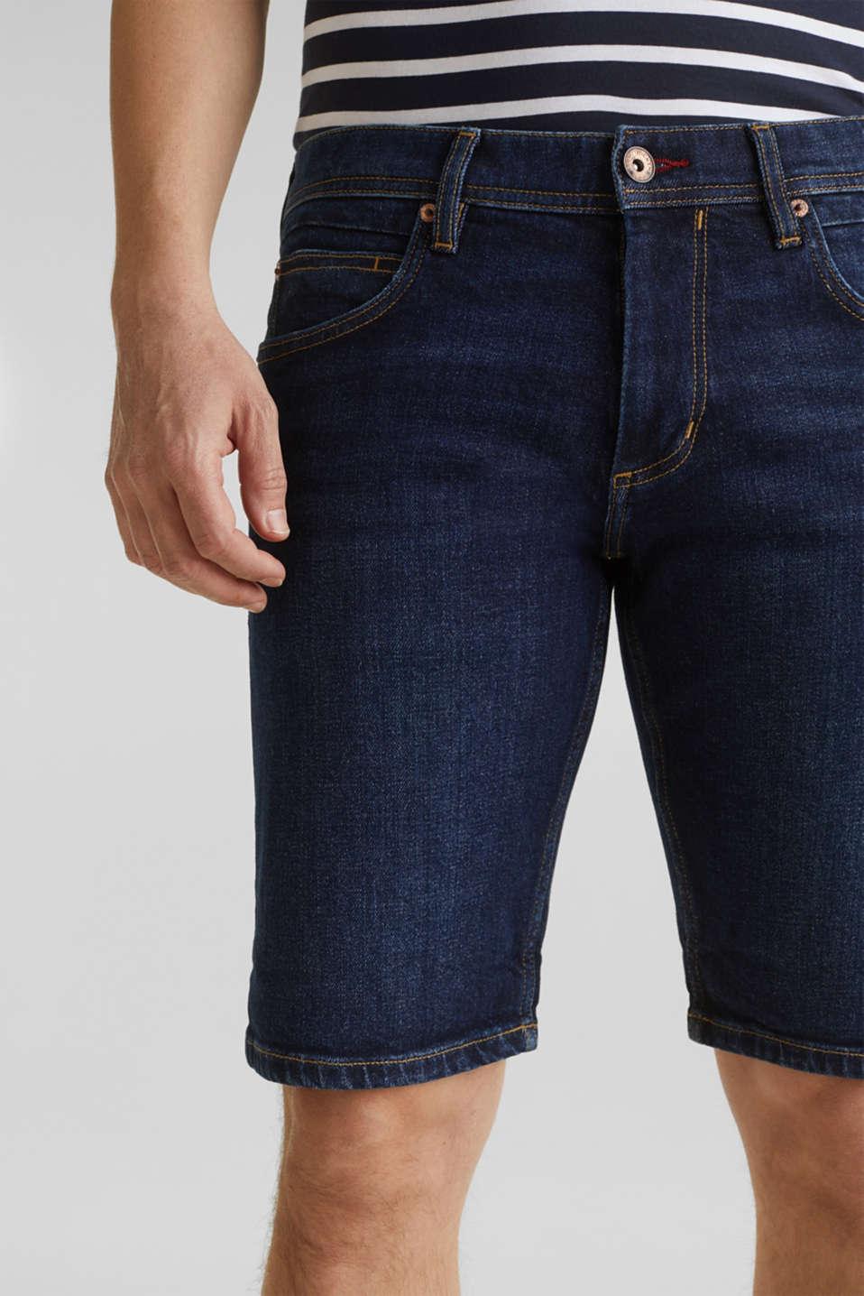 Denim shorts with organic cotton, BLUE MEDIUM WASH, detail image number 2