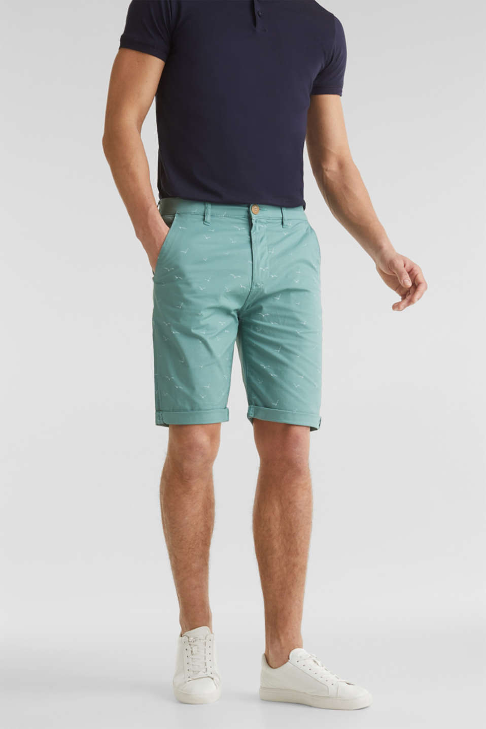 Esprit - With organic cotton: printed shorts