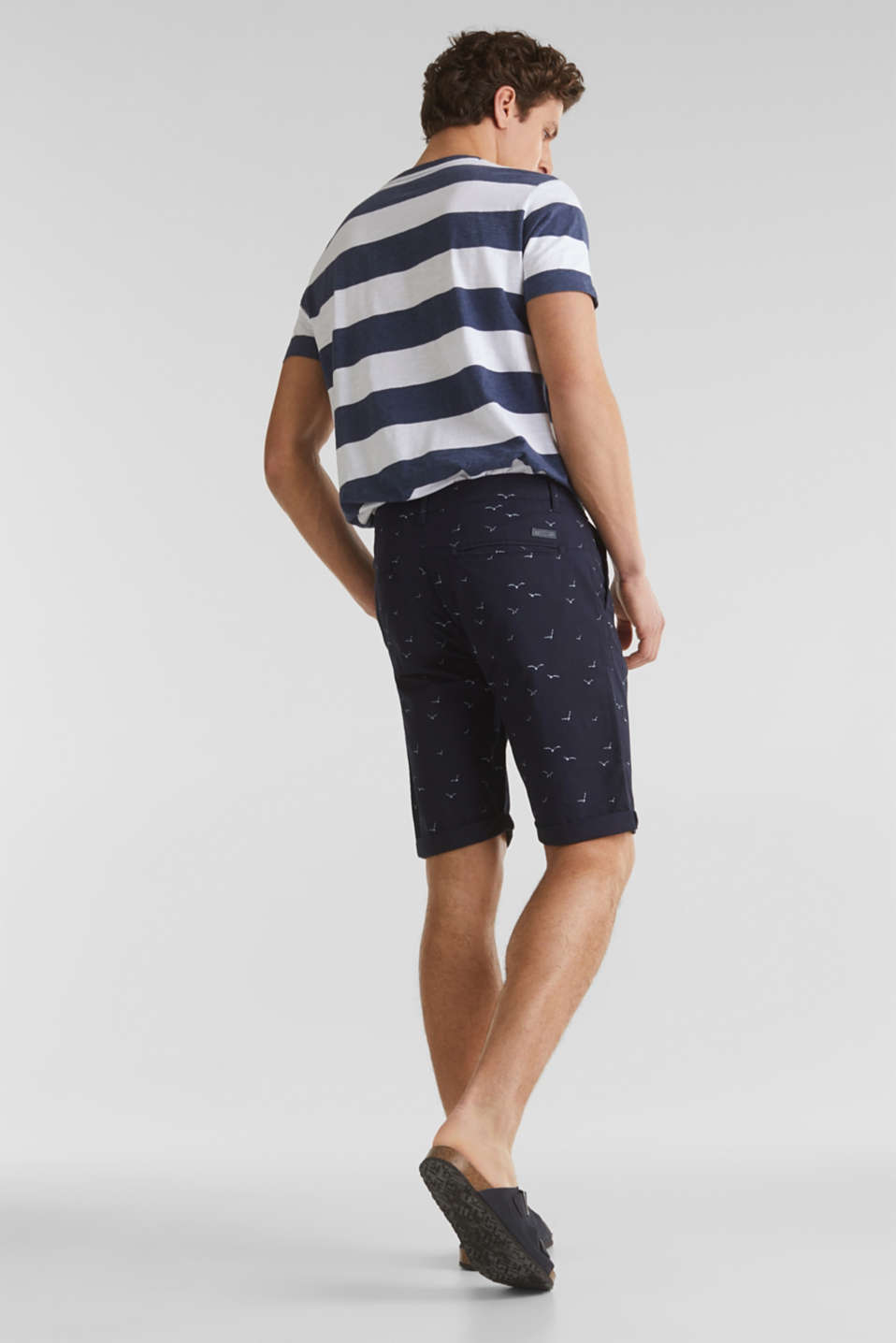 With organic cotton: printed shorts, NAVY 4, detail image number 3