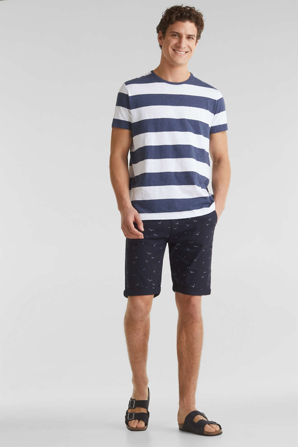 With organic cotton: printed shorts, NAVY 4, detail image number 1