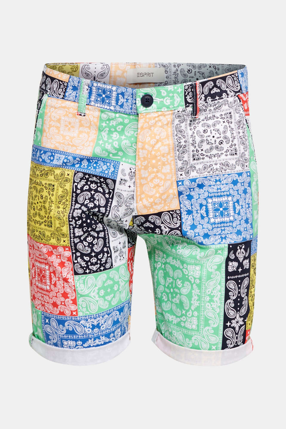 High-quality shorts with Pima cotton, OFF WHITE 4, detail image number 4