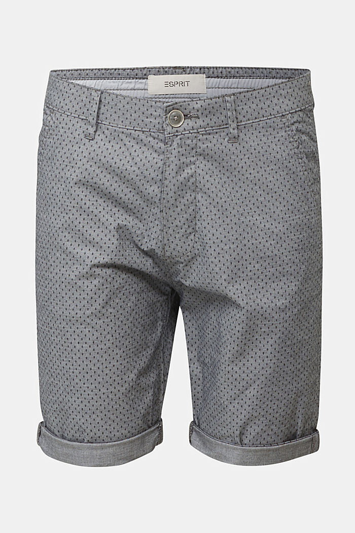 Print-Shorts aus Baumwoll-Stretch, DARK GREY, detail image number 4