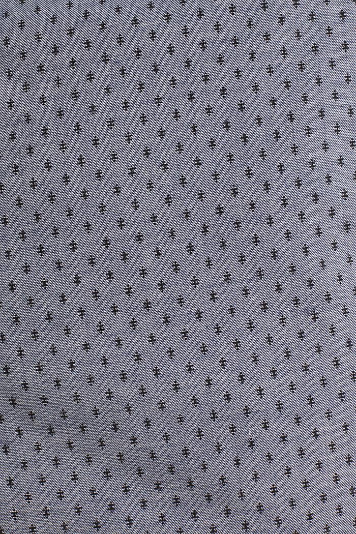 Printed stretch cotton shorts, DARK BLUE, detail image number 4