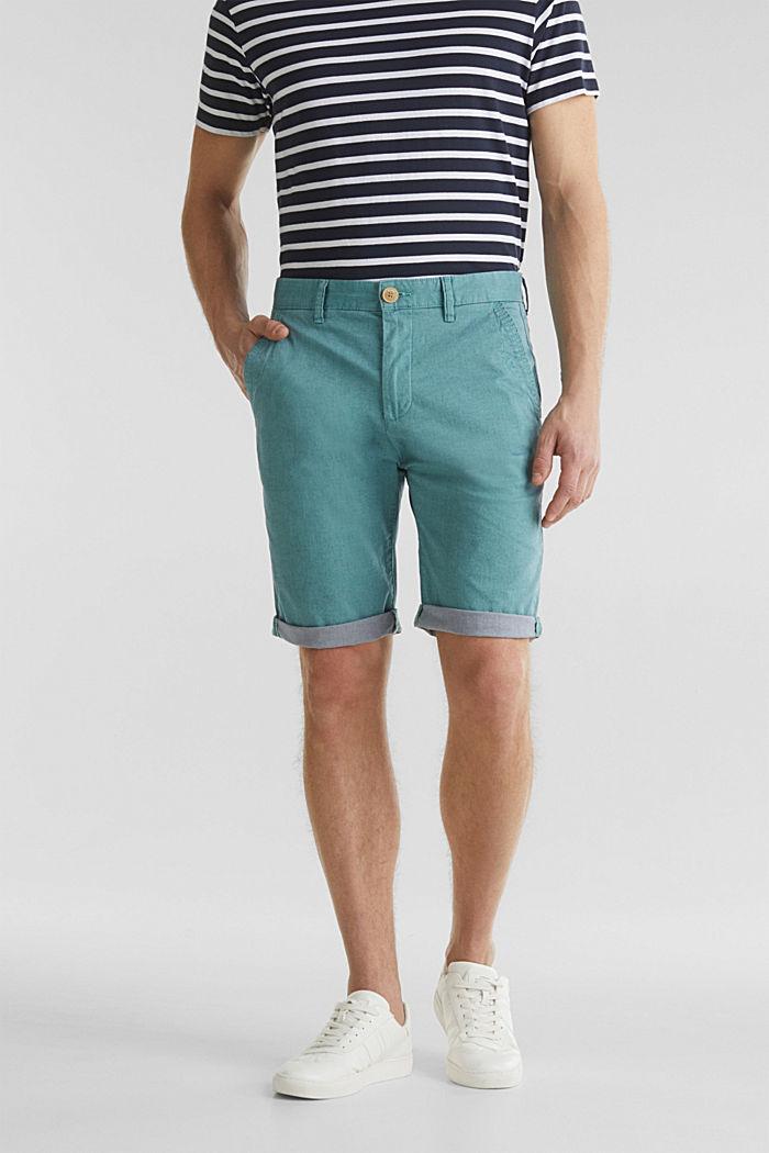 Shorts mit Wasch-Effekt, TEAL GREEN, detail image number 0