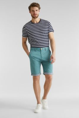 Shorts with garment-washed effects, TEAL GREEN, detail