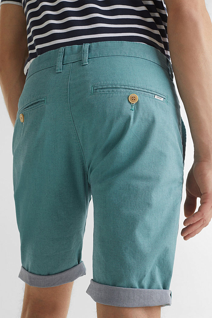 Shorts with garment-washed effects, TEAL GREEN, detail image number 5