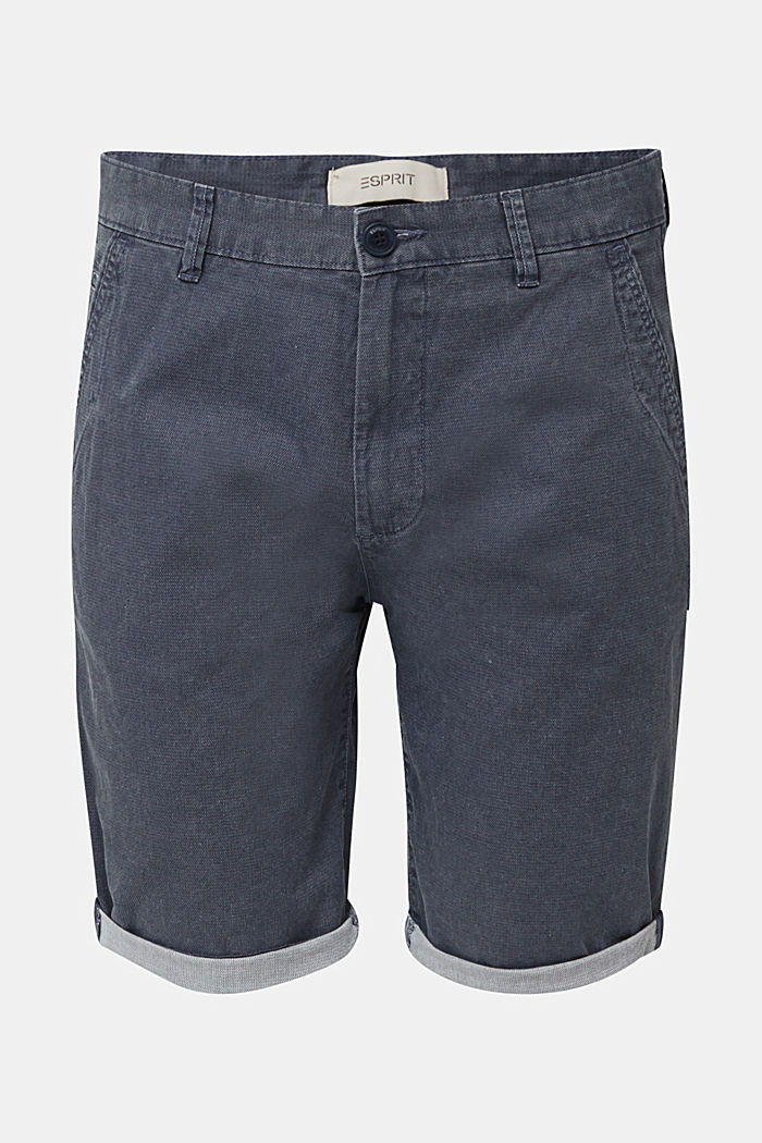 Shorts with garment-washed effects, DARK BLUE, detail image number 5