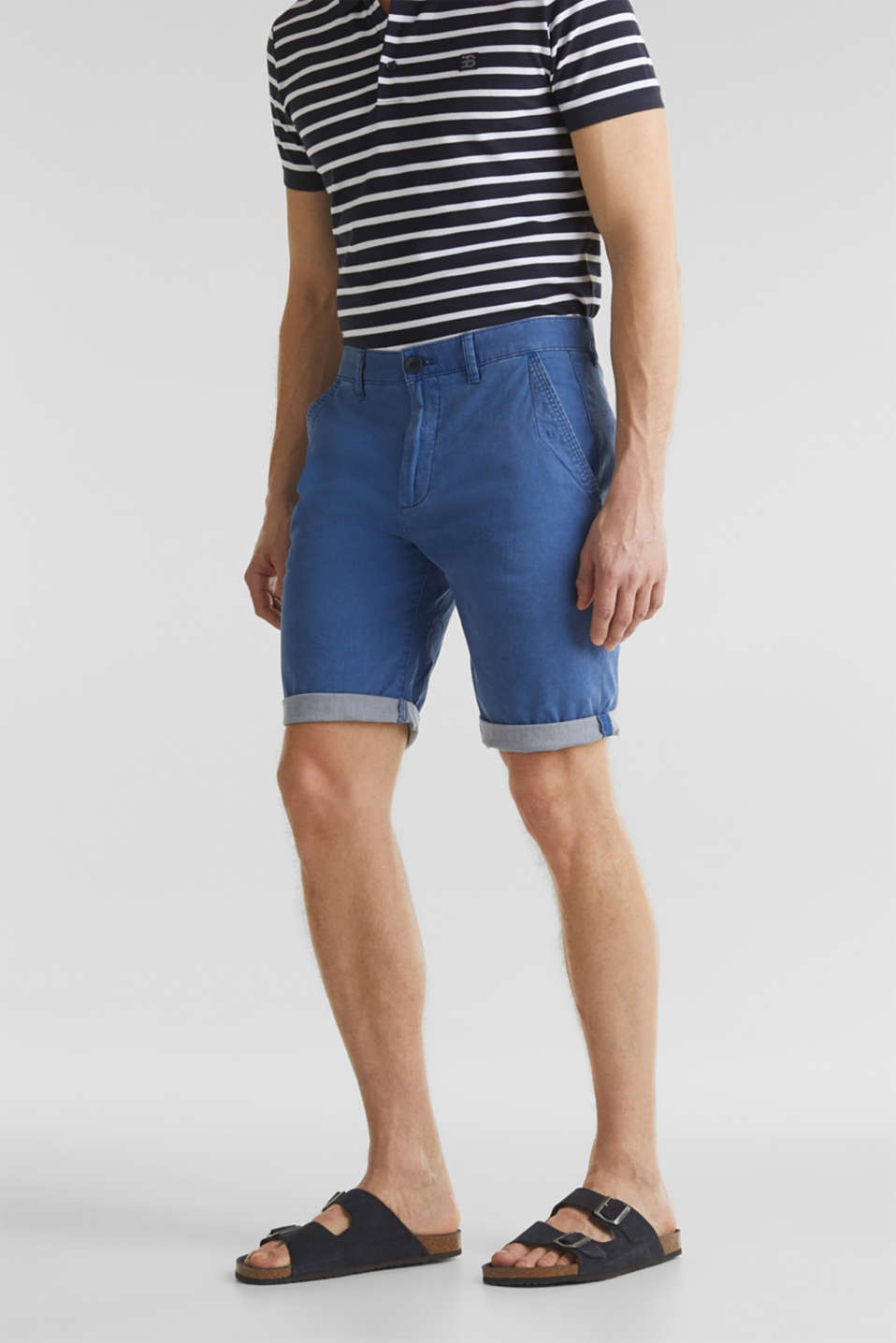 Esprit - Short met garment-washed effect