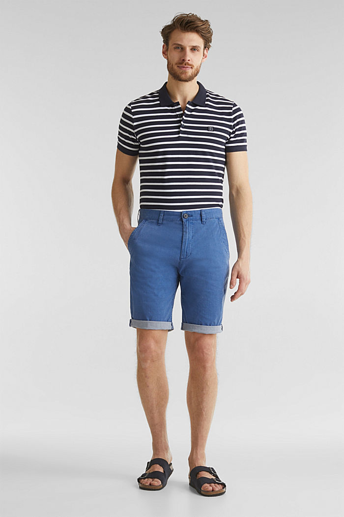 Shorts with garment-washed effects, BLUE, detail image number 1