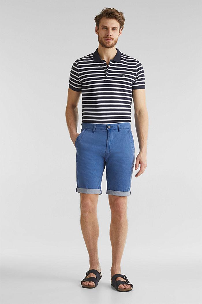 Shorts mit Wasch-Effekt, BLUE, detail image number 1