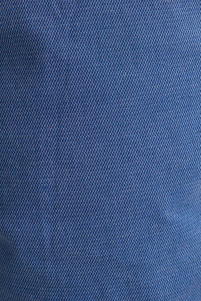 Shorts with garment-washed effects, BLUE, detail image number 4