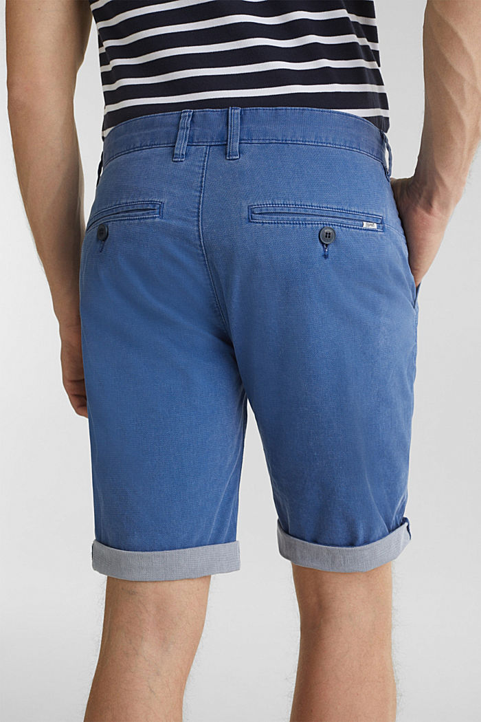 Shorts with garment-washed effects, BLUE, detail image number 5