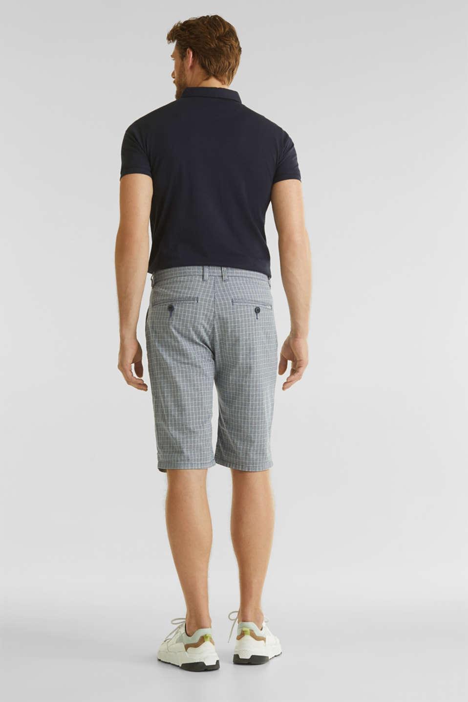 Stretch Bermuda shorts containing organic cotton, DARK BLUE, detail image number 3
