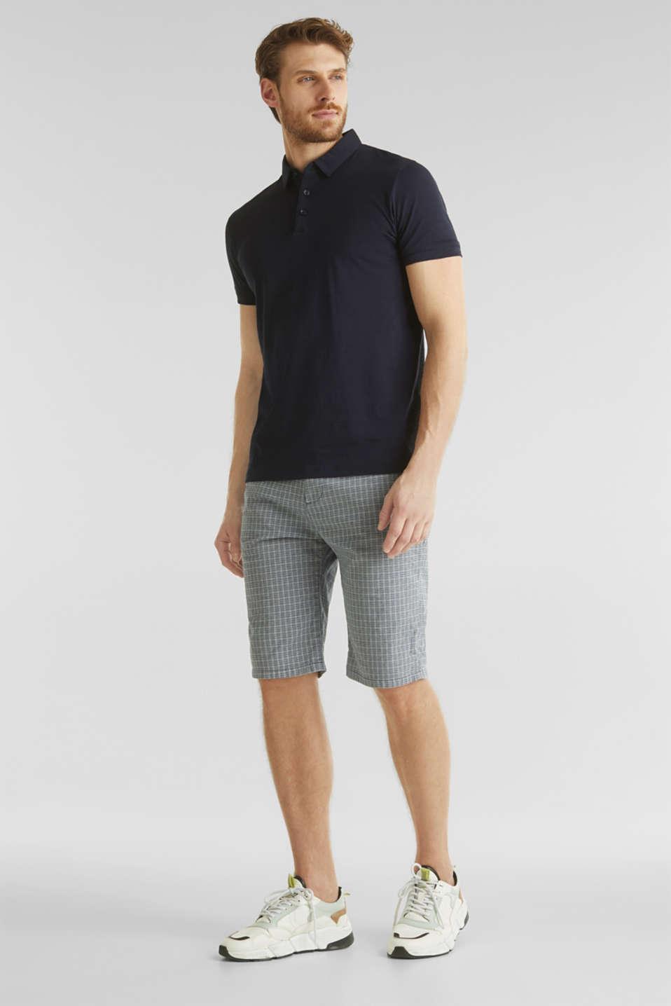 Stretch Bermuda shorts containing organic cotton, DARK BLUE, detail image number 1
