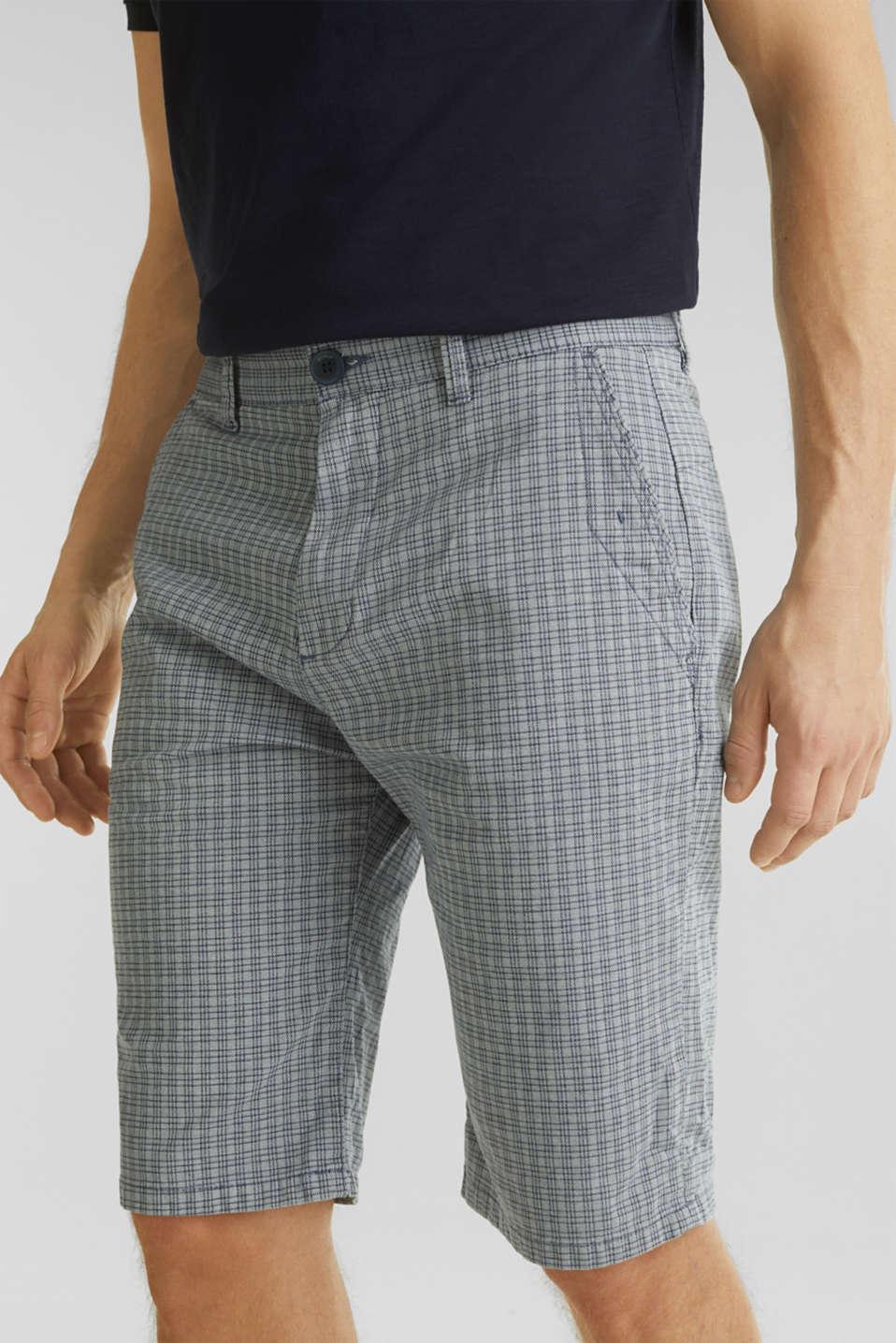 Stretch Bermuda shorts containing organic cotton, DARK BLUE, detail image number 2