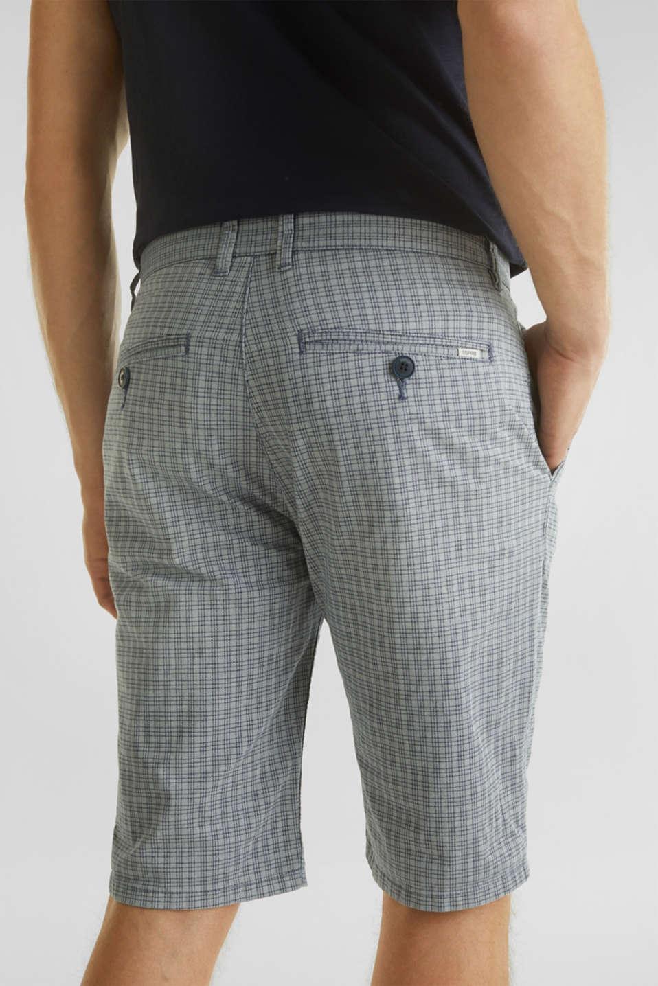Stretch Bermuda shorts containing organic cotton, DARK BLUE, detail image number 5