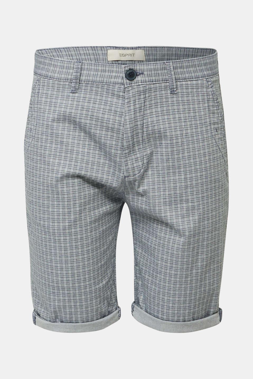 Stretch Bermuda shorts containing organic cotton, DARK BLUE, detail image number 6