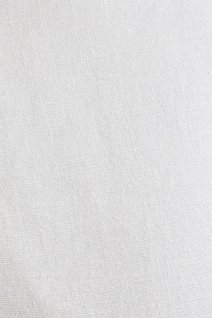 Blended linen: Bermudas with belt, WHITE, detail image number 4