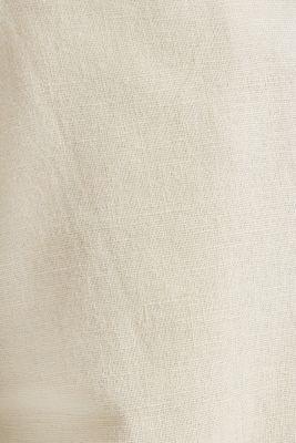 Blended linen: Bermudas with belt, LIGHT BEIGE, detail