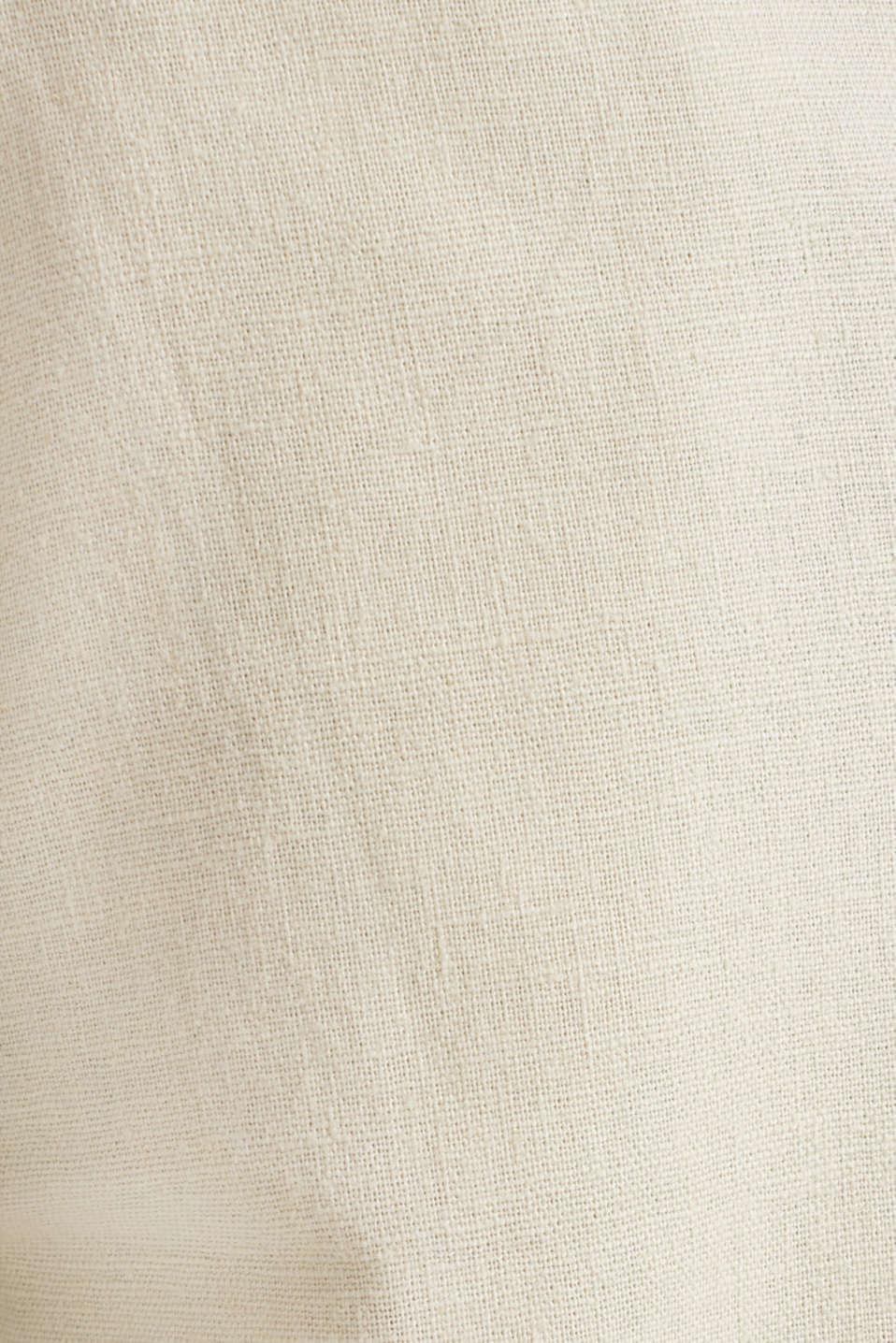 Blended linen: Bermudas with belt, LIGHT BEIGE, detail image number 4