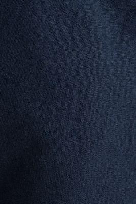 Blended linen: Bermudas with belt, DARK BLUE, detail