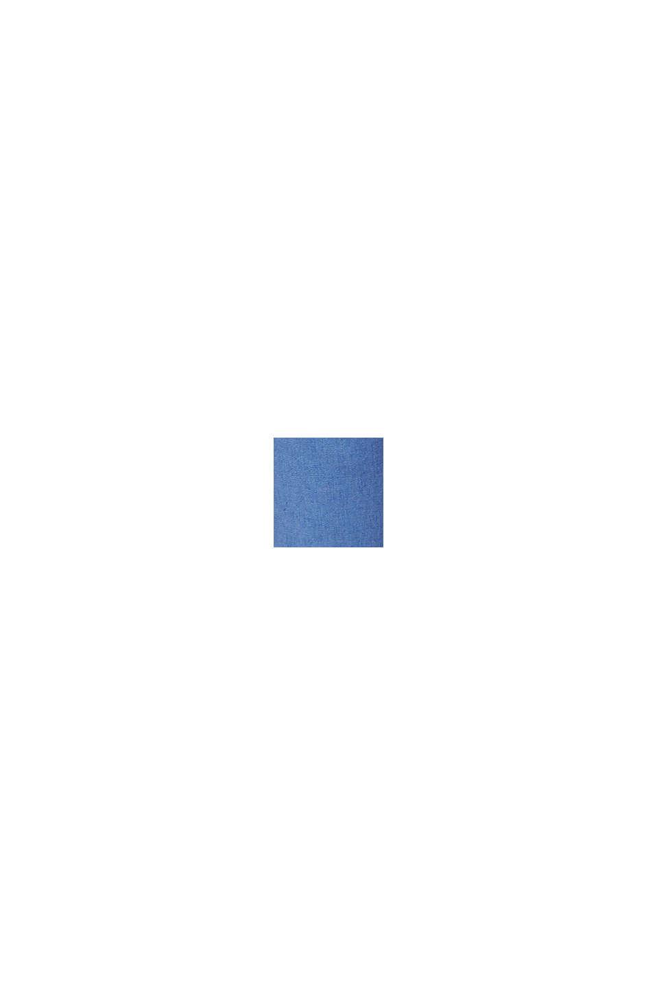 Met linnen: bermuda met ceintuur, BLUE, swatch