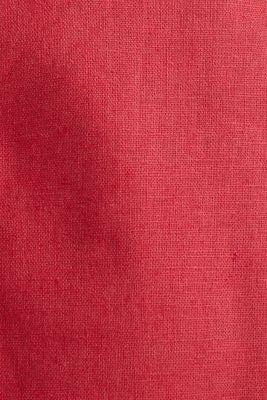 Blended linen: Bermudas with belt, ORANGE RED, detail