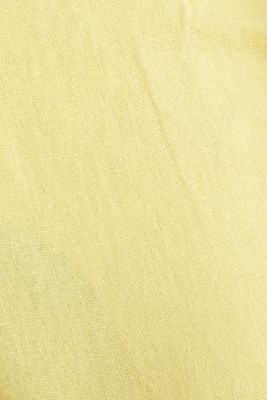 Blended linen: Bermudas with belt, HONEY YELLOW, detail
