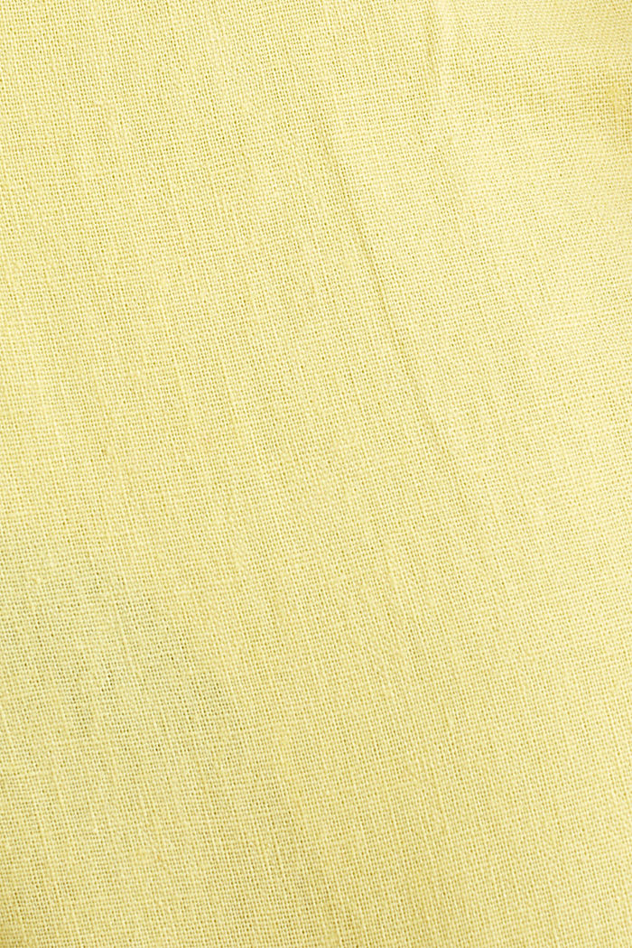Blended linen: Bermudas with belt, HONEY YELLOW, detail image number 3