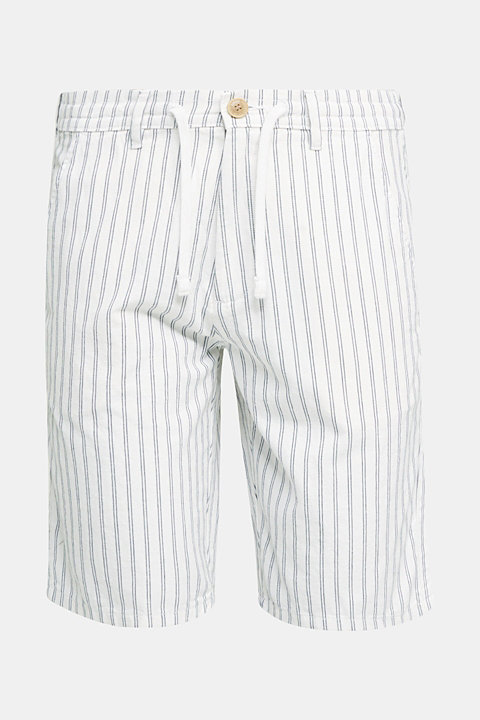 With linen: striped Bermudas