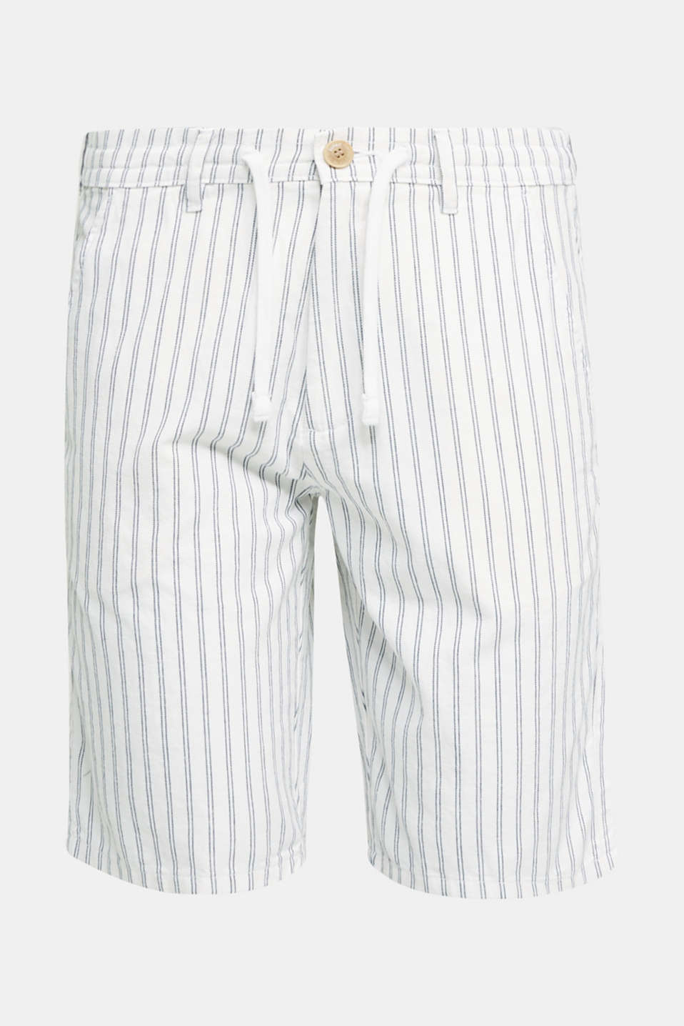 With linen: striped Bermudas, WHITE 3, detail image number 6